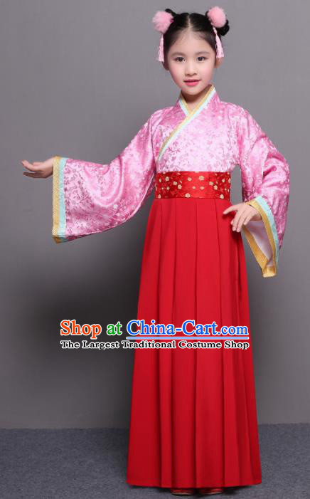 Chinese Ming Dynasty Princess Costume Ancient Court Maid Hanfu Dress for Kids