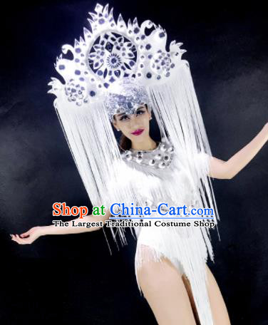 Professional Stage Performance Costume Halloween Christmas Cosplay Clothing and Headwear for Women