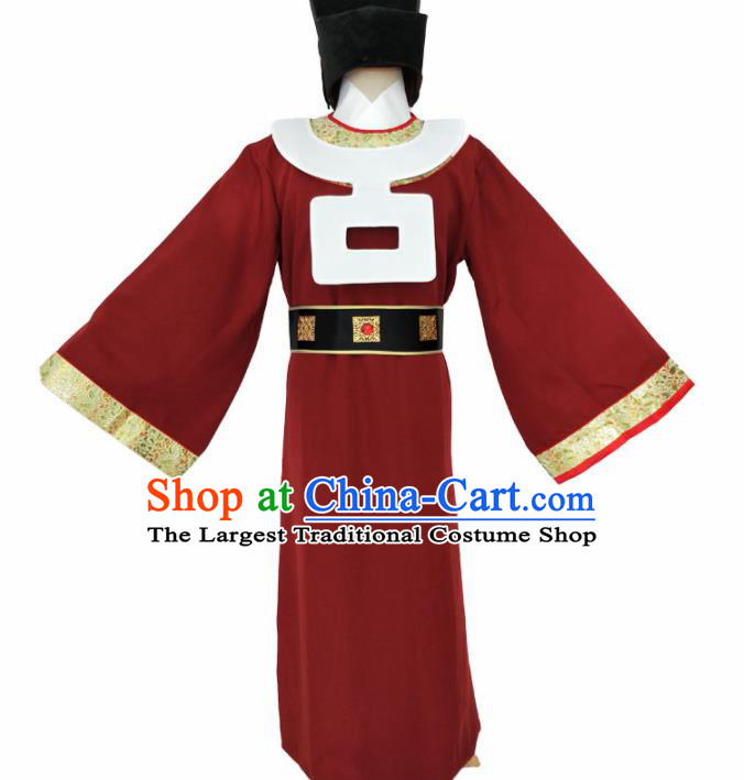 Chinese Song Dynasty Minister Costume Ancient Eunuch Clothing for Men