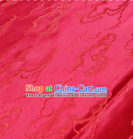 Chinese Traditional Silk Fabric Cheongsam Tang Suit Red Brocade Cloth Drapery