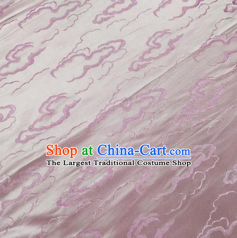Chinese Traditional Silk Fabric Cheongsam Tang Suit Pink Brocade Cloth Drapery