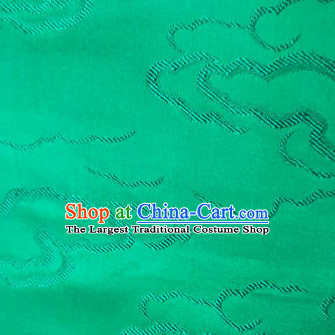 Chinese Traditional Silk Fabric Cheongsam Tang Suit Green Brocade Cloth Drapery