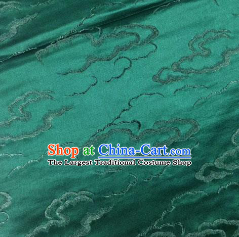 Chinese Traditional Silk Fabric Cheongsam Tang Suit Atrovirens Brocade Cloth Drapery