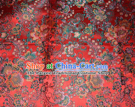 Chinese Traditional Silk Fabric Tang Suit Brocade Cheongsam Classical Pattern Cloth Material Drapery