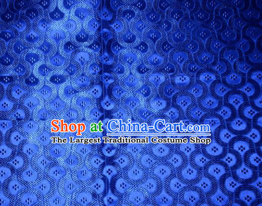 Chinese Traditional Royalblue Silk Fabric Tang Suit Brocade Cheongsam Classical Pattern Cloth Material Drapery