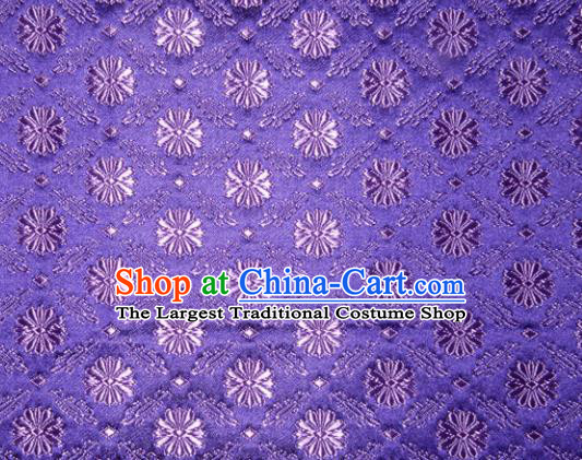 Classical Pattern Chinese Traditional Purple Silk Fabric Tang Suit Brocade Cloth Cheongsam Material Drapery
