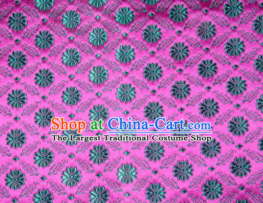 Classical Pattern Chinese Traditional Rosy Silk Fabric Tang Suit Brocade Cloth Cheongsam Material Drapery