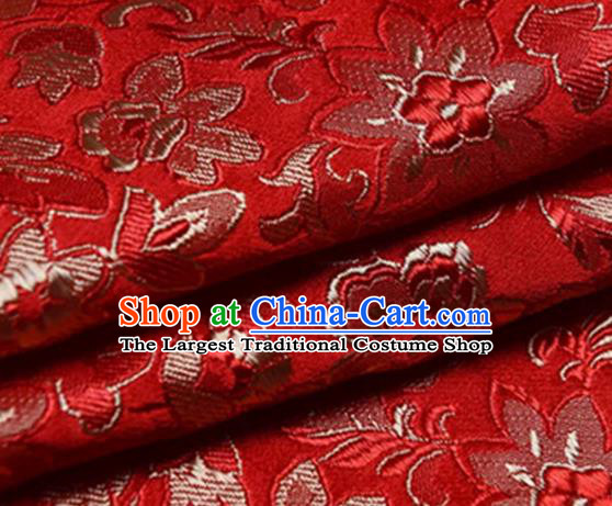 Chinese Traditional Fabric Red Silk Fabric Tang Suit Brocade Cloth Cheongsam Material Drapery