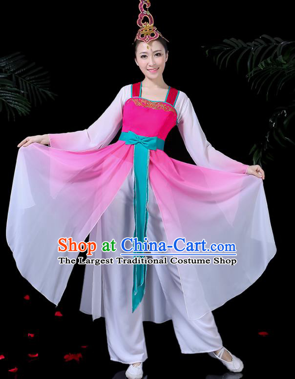 Chinese Classical Dance Dress Traditional Folk Dance Fan Dance Clothing for Women