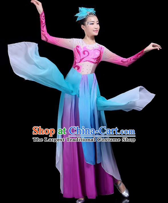 Traditional Fan Dance Classical Dance Costumes Chinese Folk Dance Umbrella Dance Costume for Women