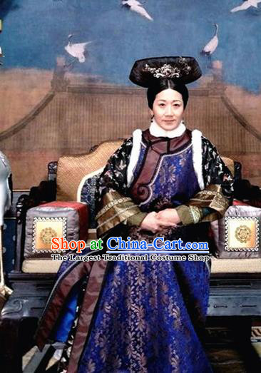 Ancient Ruyi Royal Love in the Palace Chinese Qing Dynasty Court Maid Costumes for Old Women