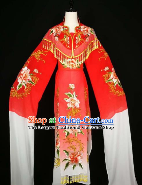 Chinese Traditional Beijing Opera Diva Red Dress Peking Opera Princess Costume for Adults