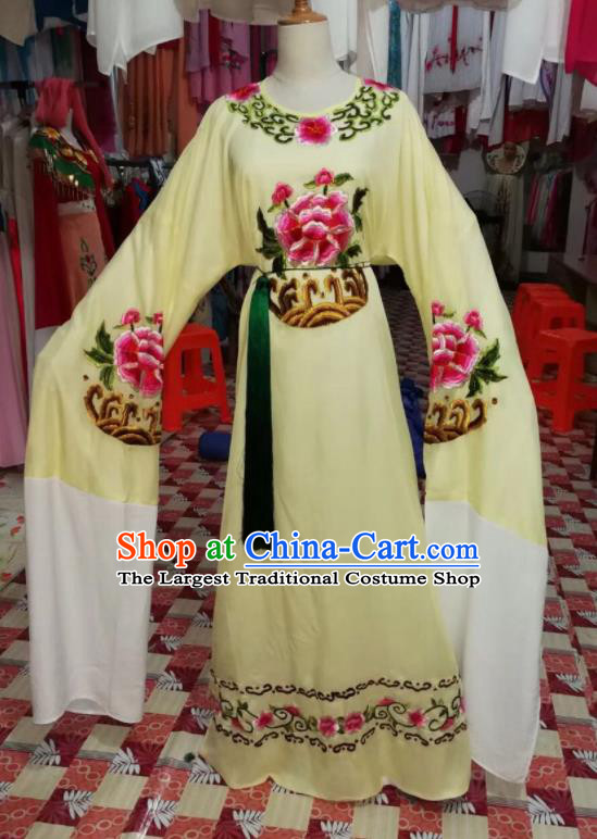 Chinese Traditional Beijing Opera Yellow Robe Peking Opera Niche Costume for Adults