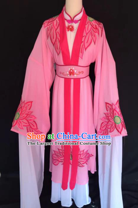 Chinese Traditional Beijing Opera Diva Pink Clothing Peking Opera Buddhist Nun Costume for Adults