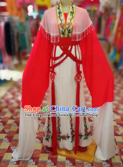 Chinese Traditional Beijing Opera Princess Red Hanfu Dress Peking Opera Diva Costume for Adults