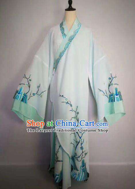 Chinese Traditional Beijing Opera Niche Embroidered Plum Blossom Costume Peking Opera Scholar Clothing for Adults
