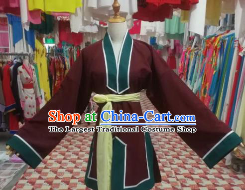 Chinese Traditional Beijing Opera Manservant Costume Peking Opera Livehand Clothing for Adults