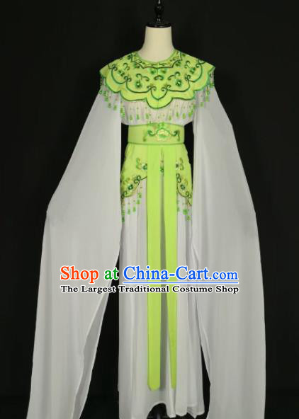 Chinese Traditional Beijing Opera Princess Green Dress Peking Opera Actress Costume for Adults