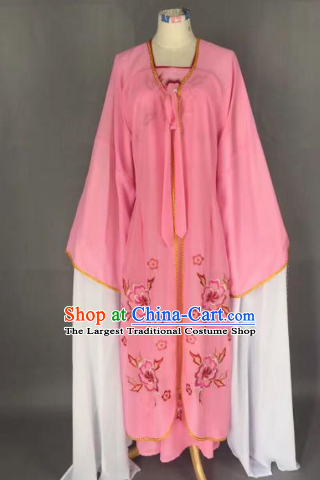 Chinese Traditional Beijing Opera Diva Costume Princess Pink Hanfu Dress for Adults