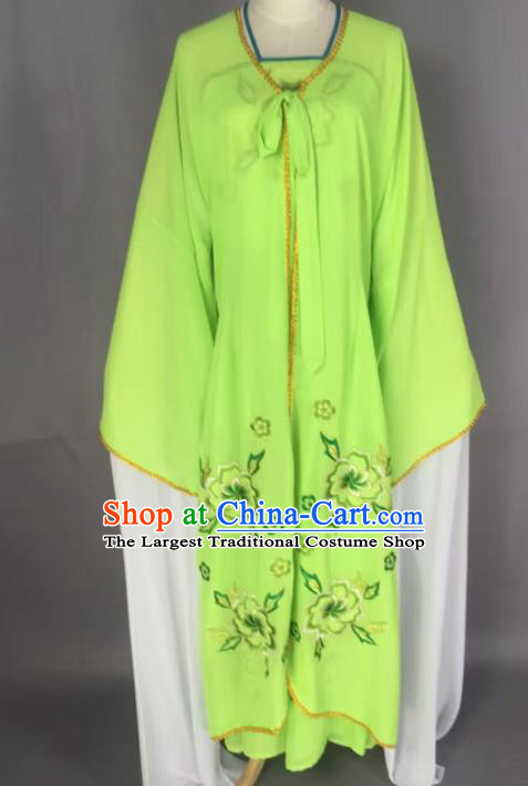 Chinese Traditional Beijing Opera Diva Costume Princess Green Hanfu Dress for Adults