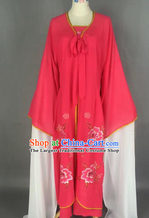 Chinese Traditional Beijing Opera Diva Costume Princess Rosy Hanfu Dress for Adults