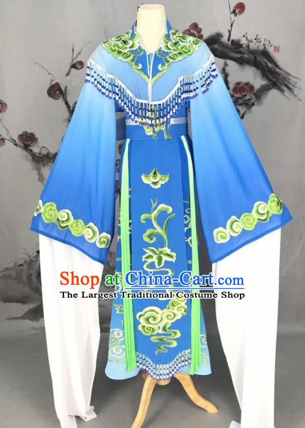 Chinese Traditional Beijing Opera Royalblue Hanfu Dress Peking Opera Actress Costume for Rich