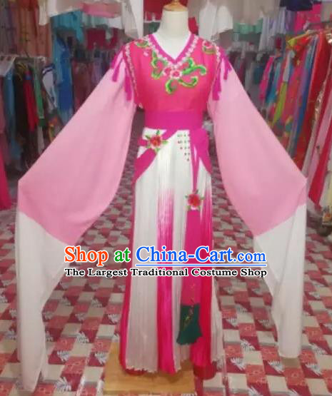 Chinese Traditional Beijing Opera Princess Pink Clothing Peking Opera Actress Costumes for Adults