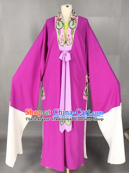 Chinese Traditional Beijing Opera Scholar Costume Peking Opera Niche Purple Robe for Adults