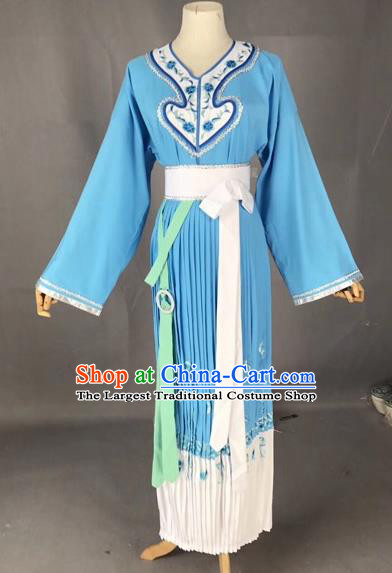 Chinese Traditional Beijing Opera Maidservants Clothing Peking Opera Diva Costumes for Adults