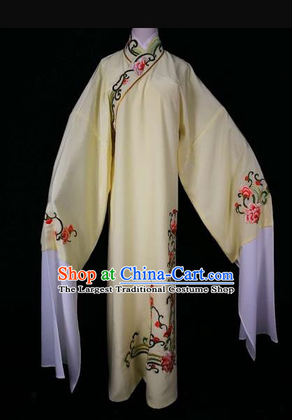 Chinese Traditional Beijing Opera Scholar Yellow Robe Peking Opera Niche Costume for Adults