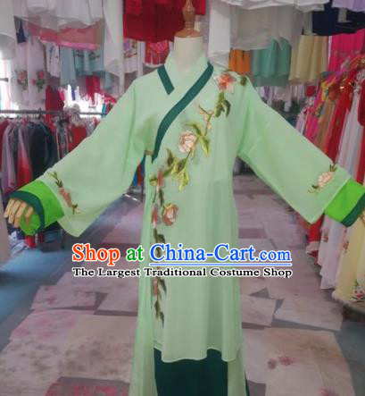 Chinese Traditional Beijing Opera Swordswoman Green Dress Peking Opera Diva Costumes for Adults