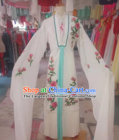 Chinese Traditional Beijing Opera Swordswoman White Dress Peking Opera Diva Costumes for Adults