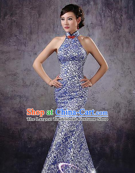 Chinese Traditional Costume Classical Qipao Dress Elegant Cheongsam for Women