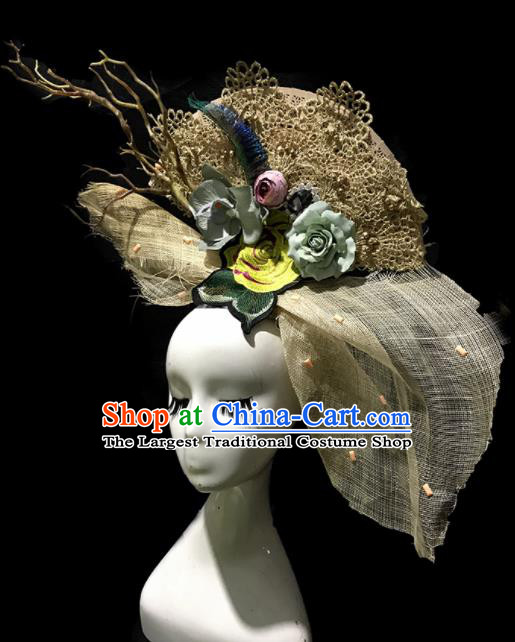 Top Halloween Stage Show Top Hat Brazilian Carnival Catwalks Headdress for Women