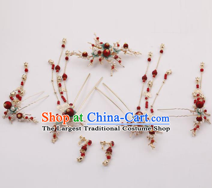 Top Chinese Traditional Hair Accessories Ancient Classical Hair Clips Palace Hairpins Complete Set for Women