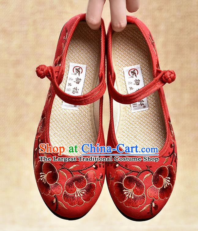 Chinese Shoes Wedding Shoes Traditional Embroidered Shoes Bride Red Shoes for Women