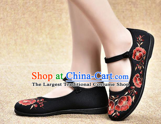Chinese Shoes Wedding Shoes Traditional Embroidered Shoes Bride Black Shoes for Women