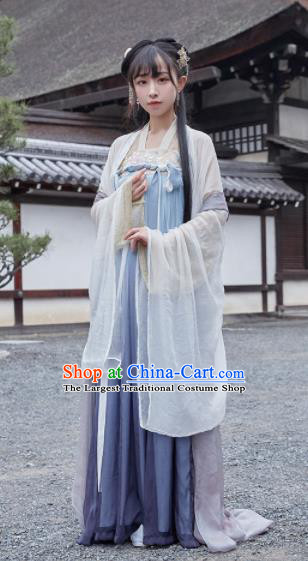 Chinese Ancient Drama Princess Hanfu Dress Traditional Tang Dynasty Palace Replica Costumes for Women