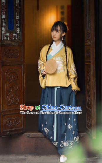 Chinese Traditional Ming Dynasty Replica Costumes Ancient Rich Lady Hanfu Dress for Women