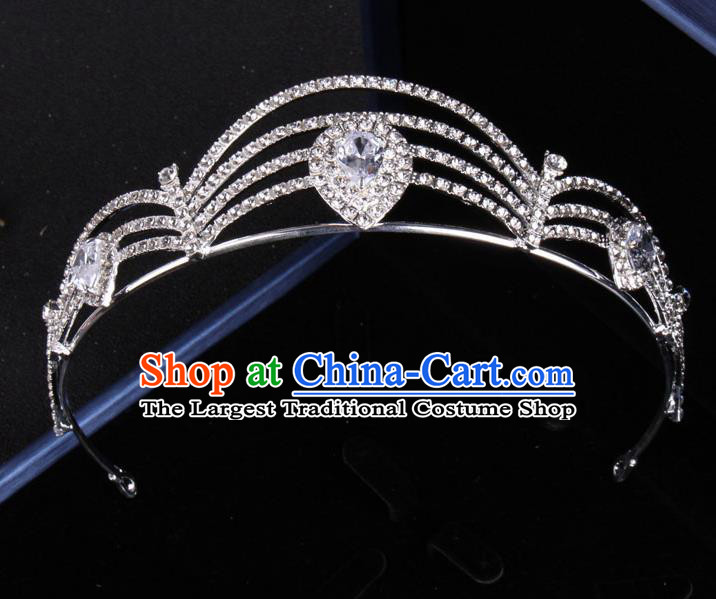 Top Grade Gothic Hair Accessories Catwalks Princess Zircon Royal Crown for Women