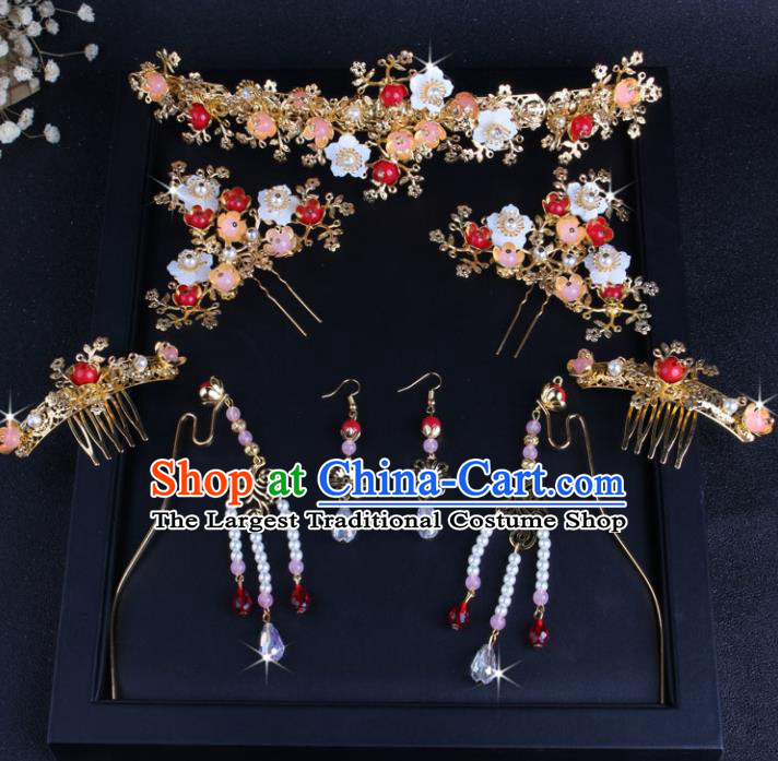 Top Chinese Traditional Hair Accessories Wedding Pearls Tassel Hair Clasp Hairpins for Women