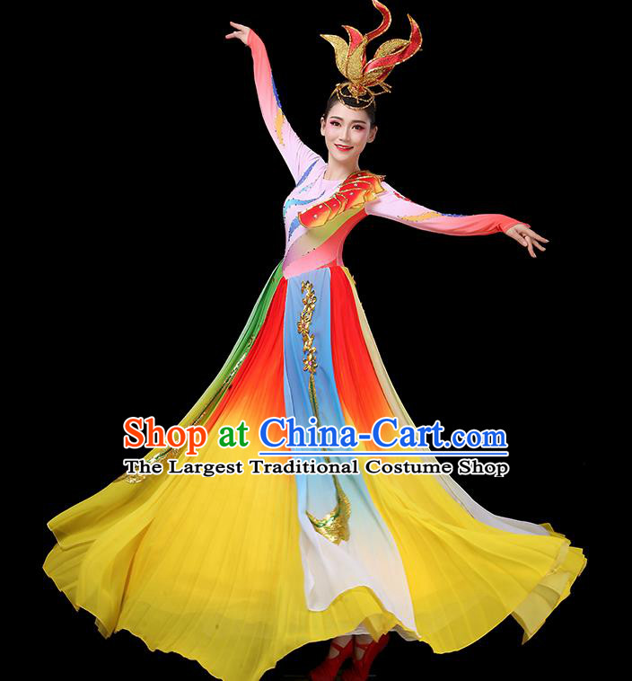 Top Grade Stage Show Costumes Group Dance Modern Dance Chorus Red Dress for Women