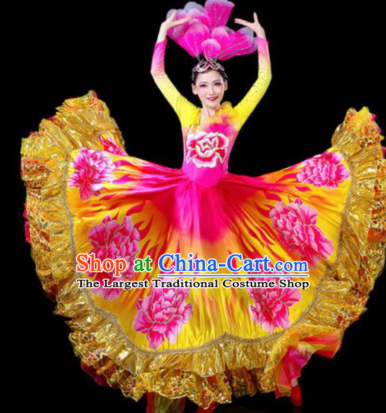 Top Grade Stage Show Chorus Costumes Group Dance Modern Dance Dress for Women