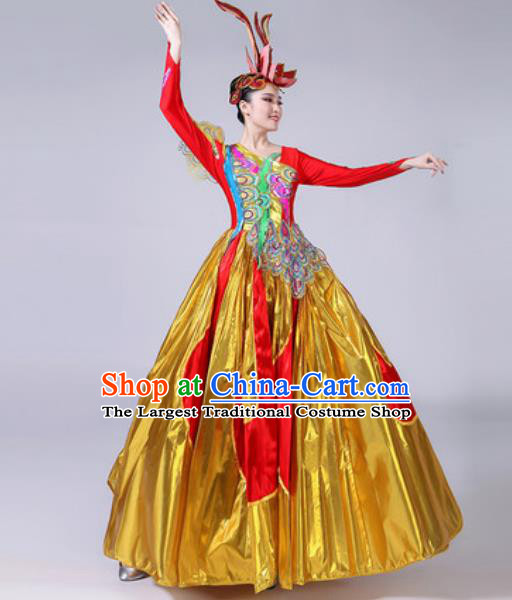 Top Grade Stage Show Costumes Modern Dance Chorus Group Dress for Women