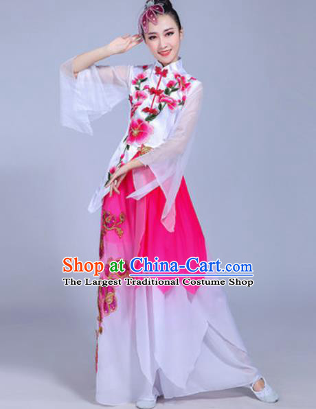 Traditional Chinese Classical Dance Costume Folk Dance Pink Dress for Women