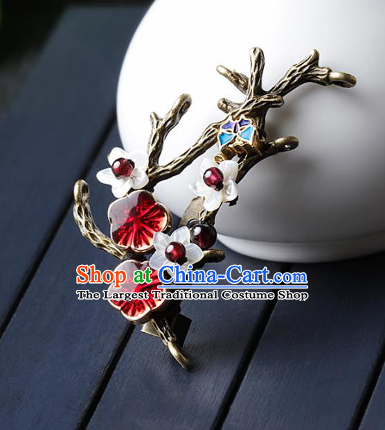 Chinese Traditional Jewelry Accessories National Hanfu Plum Blossom Brooch for Women