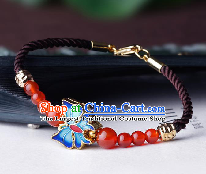 Chinese Traditional Jewelry Accessories National Hanfu Agate Bracelet for Women