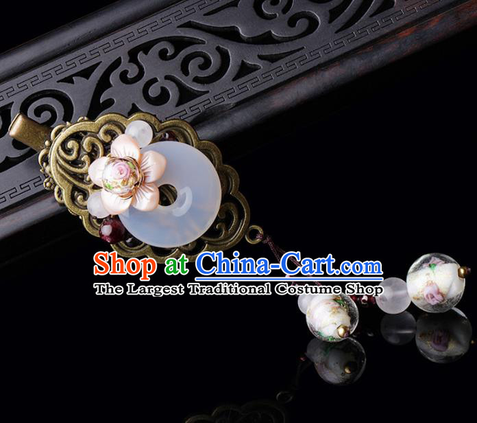 Chinese Traditional Hair Accessories National Hanfu Jade Hair Stick for Women