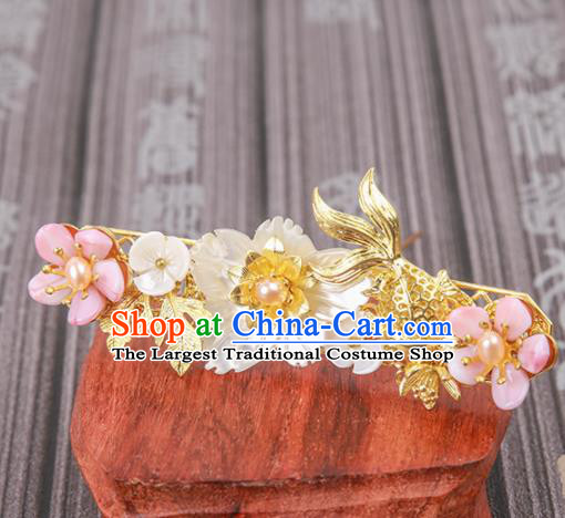 Chinese Ancient Traditional Hanfu Goldfish Hairpins Handmade Classical Hair Accessories for Women