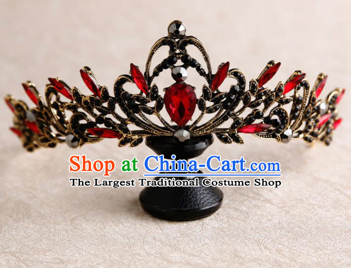 Handmade Top Grade Bride Royal Crown Hair Accessories Baroque Queen Hair Clasp for Women